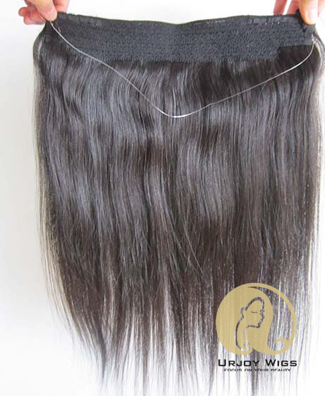 Unporcessed virgin peruvian hair halo hair extensions