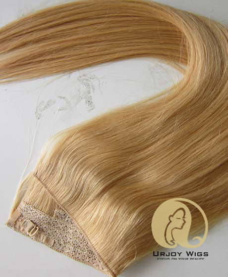 100% human hair straight halo hair extensions