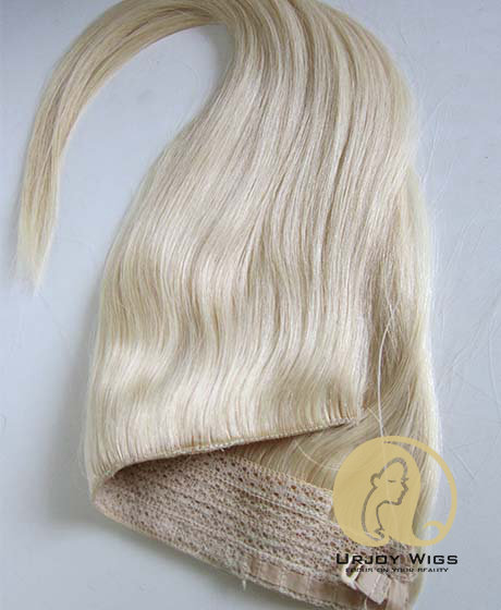 Blonde brazilian virgin hair  flip in hair extensions easy wearing
