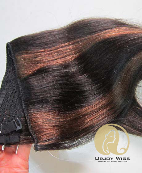 Piano color virgin peruvian hair flip in hair extensions
