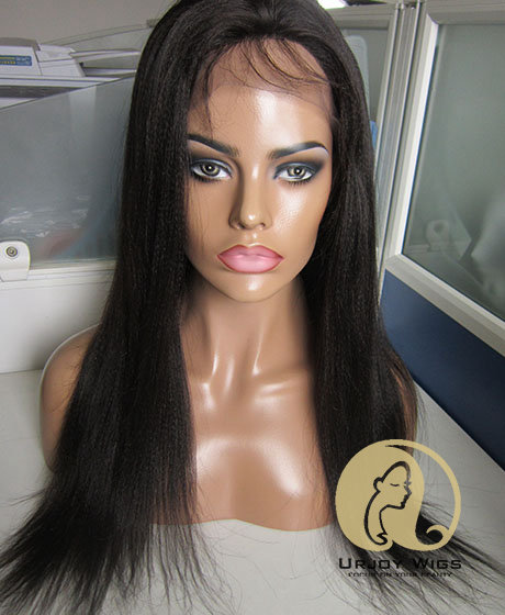Unprocessed virgin brazilian hair silk top lace front wig