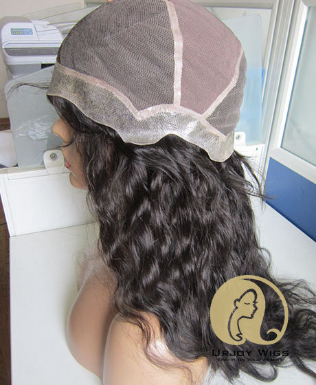 Medical Wig Cheap Synthetic Hair Full Lace Wig With PU Around Perimeter