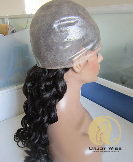 Medical Wigs Alopecia Wig Peruvian Virgin Hair Full PU Wig