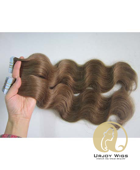Tape in Human Hair Extensions Top 8A Brazilian Virgin Hair Skin Weft Hair Extensions