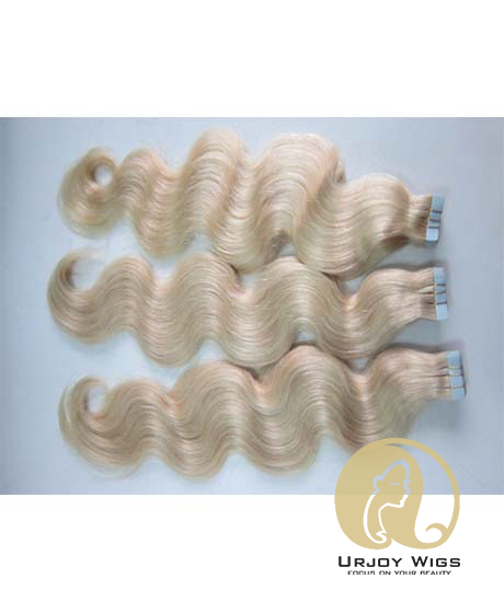 #613 body wave Tape Hair Extensions 40Pcs 100G Skin Weft Hair Extensions Tape In Human Hair Extensions