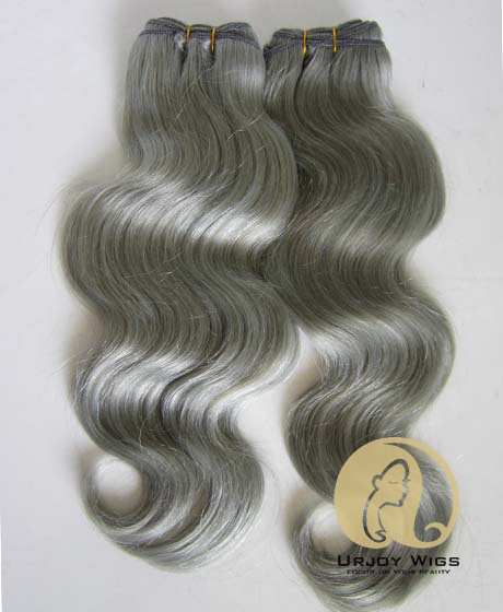 Top Quality Silver Grey Human Hair Weft