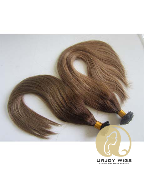 Ombre flat tip human hair extensions