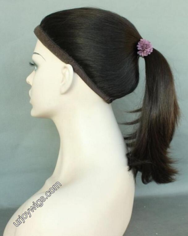 Mongolian hair ponytail wigs sports wig