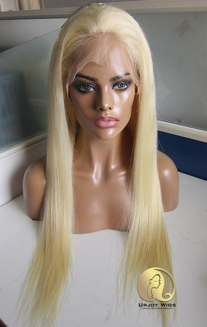 Color 613 Blonde Silk Top Full Lace Wig Shipping Fast