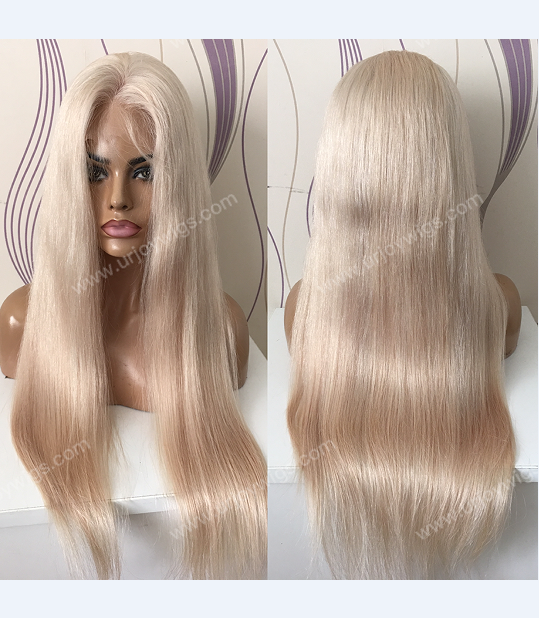 Blonde human hair full lace wig