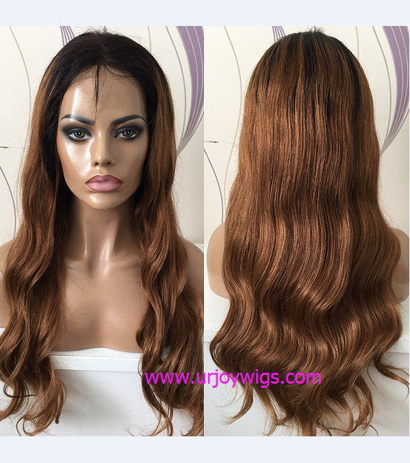 Ombre Glueless Full Lace Wig Top Quality