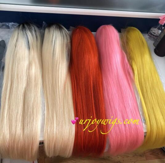 Colorful full lace wigs available fast shipping