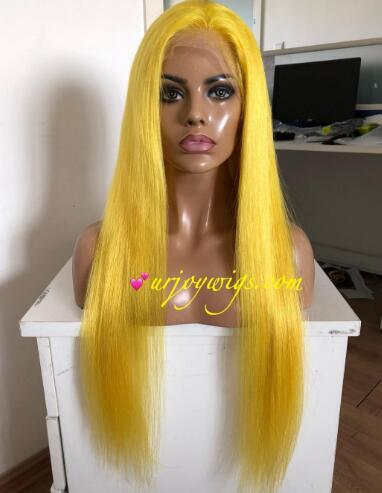 Colored human hair wigs all colors can be made fast shipping