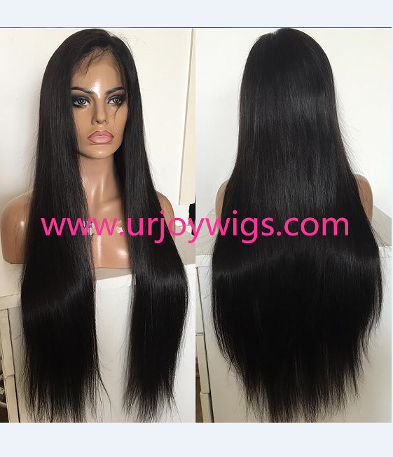Long straight human hair full lace wig