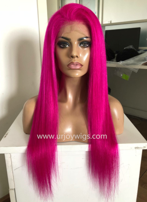 Colorful Human Hair lace front wig